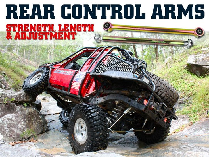 "Rear Control Arms - Strength, Length & Adjustment  Find out just how much difference running the right rear control arms can make.  Read the full Superior Engineering ""Tech Talk"" article here: https://goo.gl/0CN26W  #controlarms #4wd #4x4"