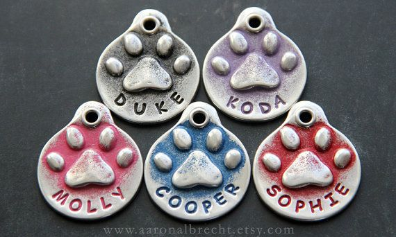 Pet ID Tag Dog Tag Pet Tag Dog ID Tag Small Dog by aaronalbrecht
