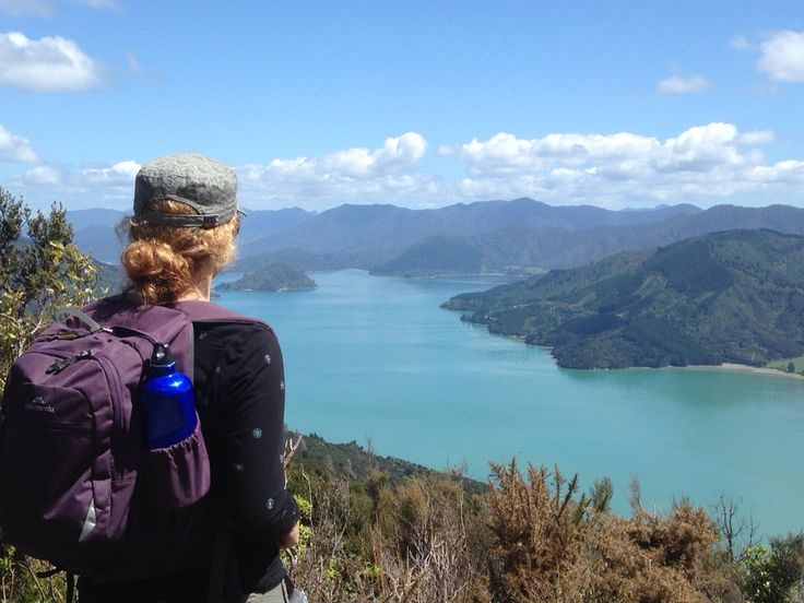 A view on Day 3 along the scenic Queen Charlotte Track. #bigheartadventures #wisewomenwalking #challenge #discover #fulfil #changingtheworldthroughtravel  #travelthatgivesback