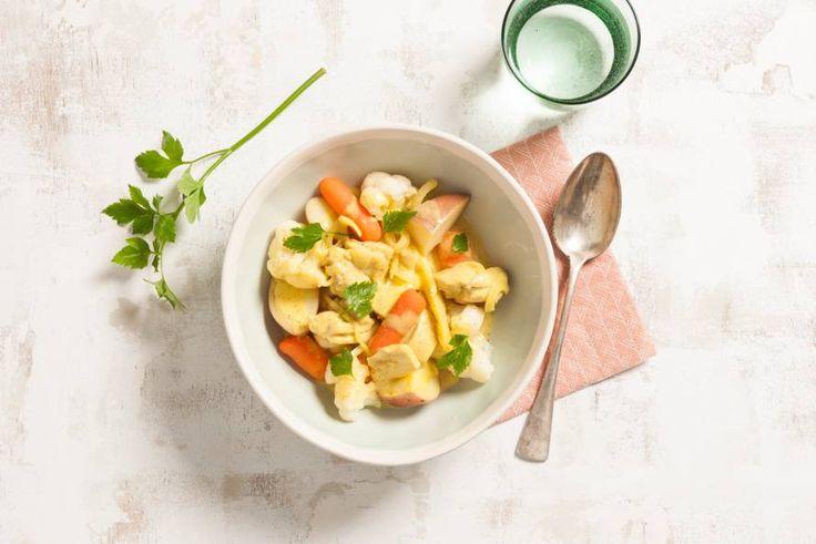 Indiase curry met kip, bloemkool & rode aardappel - Recept - Allerhande
