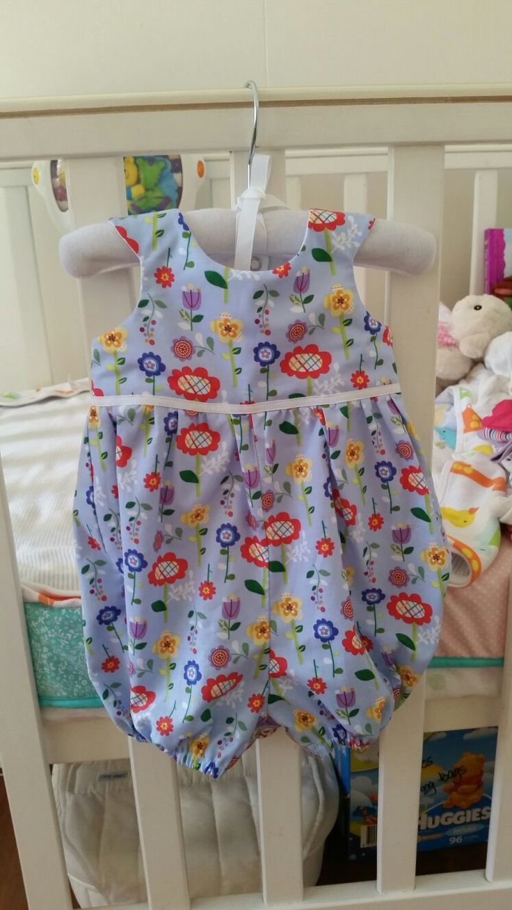 Baby Tea Party Romper made from Tadah pattern