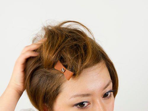 前髪ポンパドールのつくり方 ショートヘア