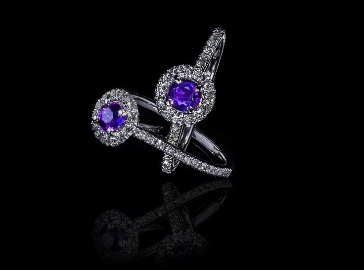 Love & You Amethyst Ring  - #digregorio_milano #digregoriogioielli_milano #amethyst #diamonds #whitegold #ring #solitary #love  #jewel #jewellery #finejewellery #luxury