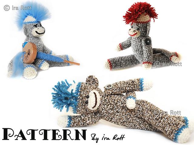 10 mejores imágenes de Crochet Sock Monkeys en Pinterest ...