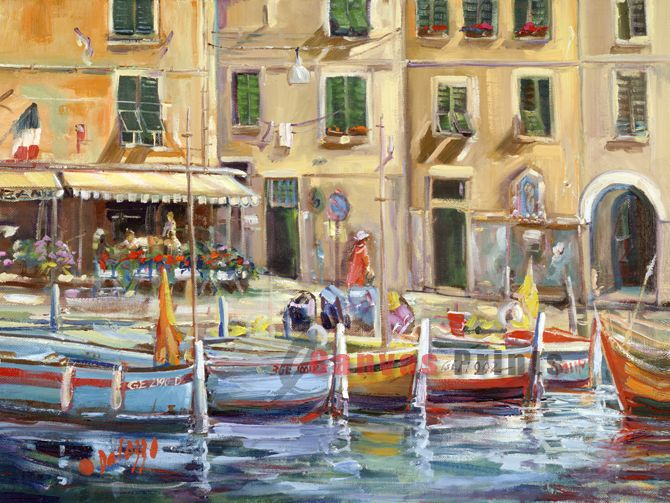 """Reflection of Portofino"" Limited Edition by Lucette Dalozzo"