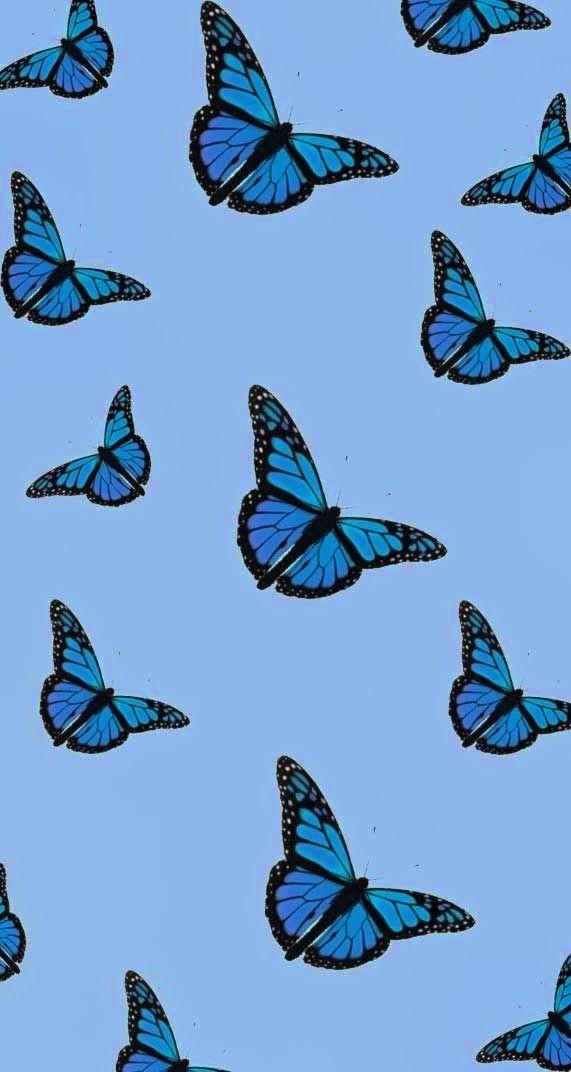 Coque Iphone Papillon Bleu Par Dodi Ballada Blue Butterfly Wallpaper Butterfly Wallpaper Iphone Butterfly Wallpaper Backgrounds