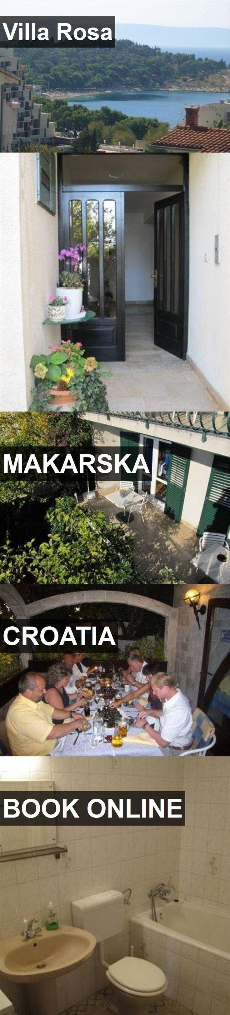 Hotel Villa Rosa in Makarska, Croatia. For more information, photos, reviews and best prices please follow the link. #Croatia #Makarska #travel #vacation #hotel