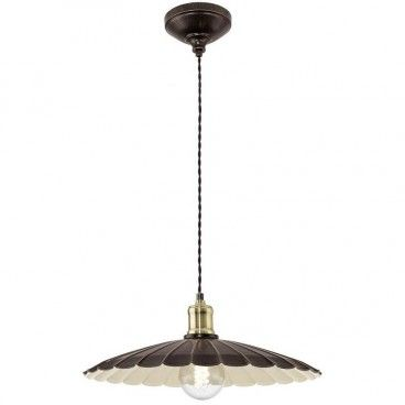 Lampa wisząca Hemington pojedyncza metalowa czarno złota w stylu vintage retro loftowym