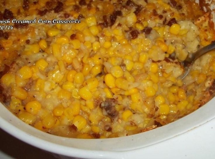 This is another recipe the Amish shared with me...I added the bacon...I take this a lot to Church potlucks and it's always a big hit...enjoy!