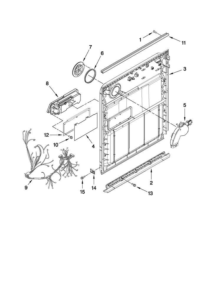 Inner door parts diagram parts list for model
