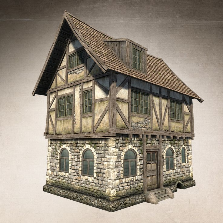 Low poly model of fantasy medieval house. Model ideal for game development. You can buy this model on Tubosquid