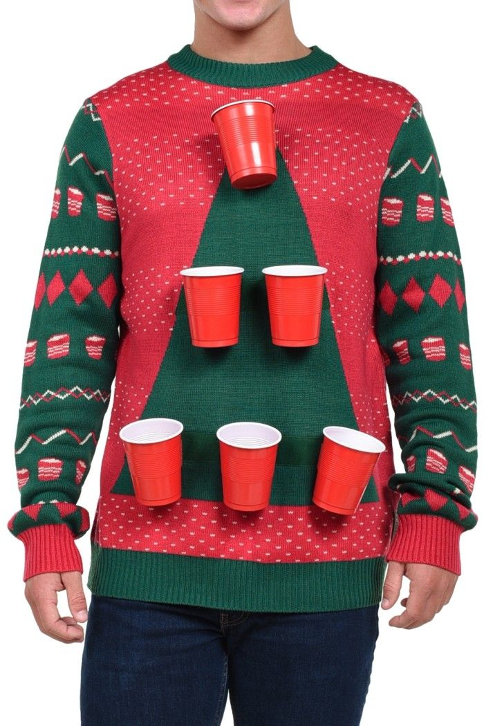 Men S Beer Pong Sweater Beer Beer Pong And Sweaters
