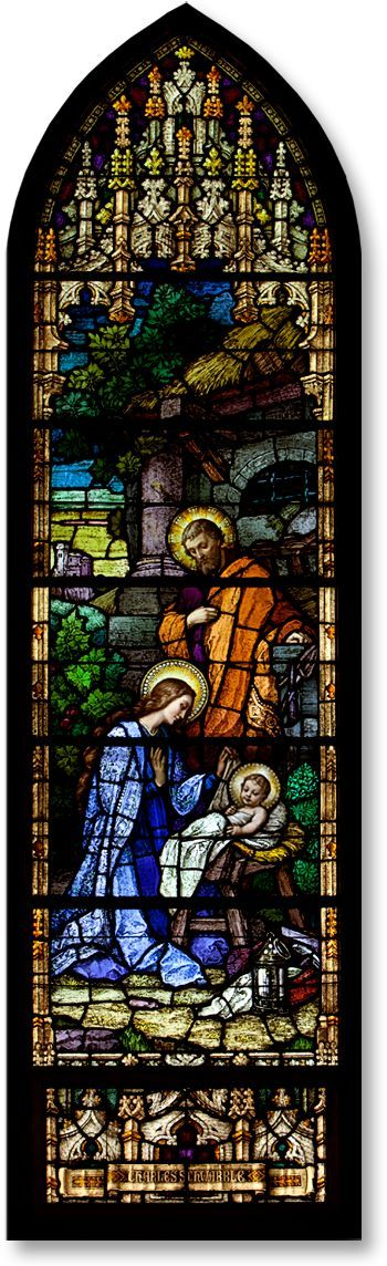 Nativity Stained Glass Window – Saints Peter and Paul Roman Catholic Church, Mankato, MN