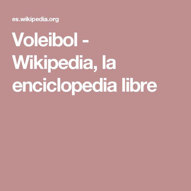 En la wikipedia encontrareis toda la información sobre el Voleibol. Historia, reglas, jugadores, etc...