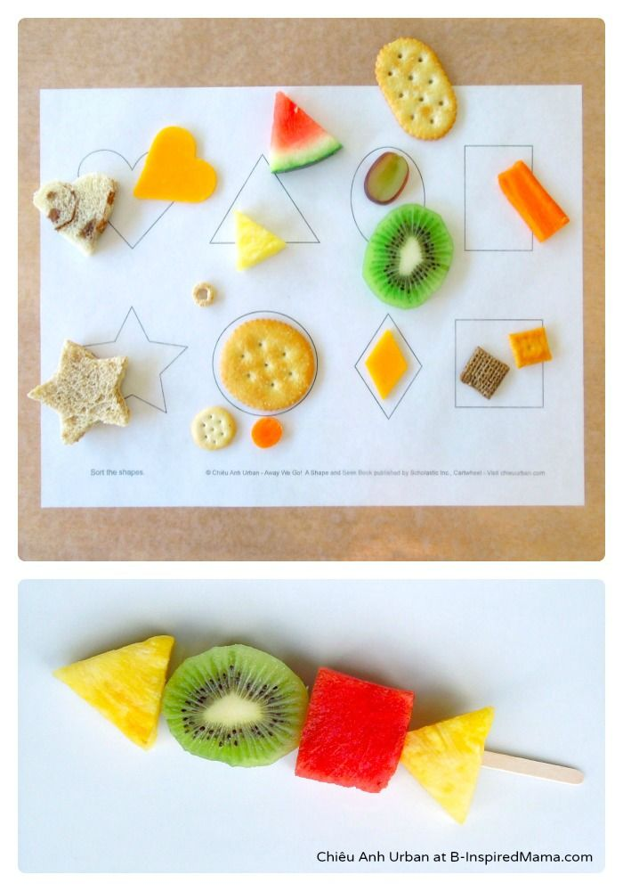 Do you ever let your kids play with thier food? What about LEARN with it?! -- Sorting Shapes with Food [From the Mamas] - #kids #preschool #funfood