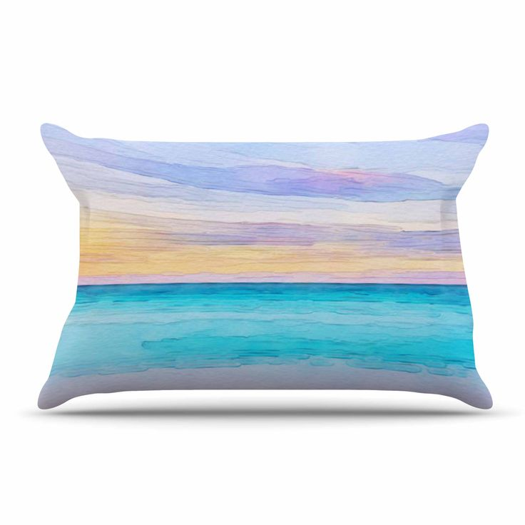 "Oriana Cordero ""Las Terrenas"" Blue Pink Pillow Case"