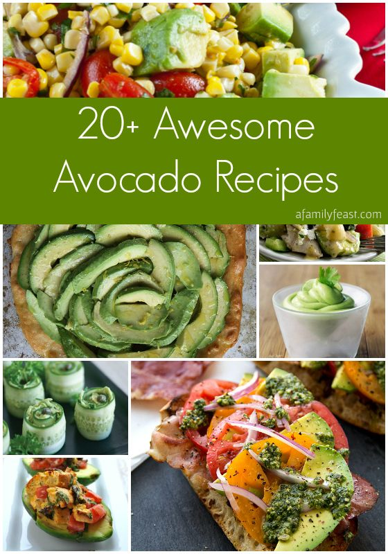 """""""20-Plus Awesome Avocado Recipes"""" - This TRULY versatile and great food is 'delicious & nutritious' in savory or sweet recipes - Plus Did ya know u can use them in green drink or smoothies?    #AvocadoRecipes"""