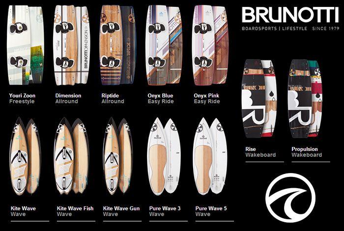 La gamme Brunotti 2013 est dispo au shop, les planches de kite, SurfKite, Wakeboard.