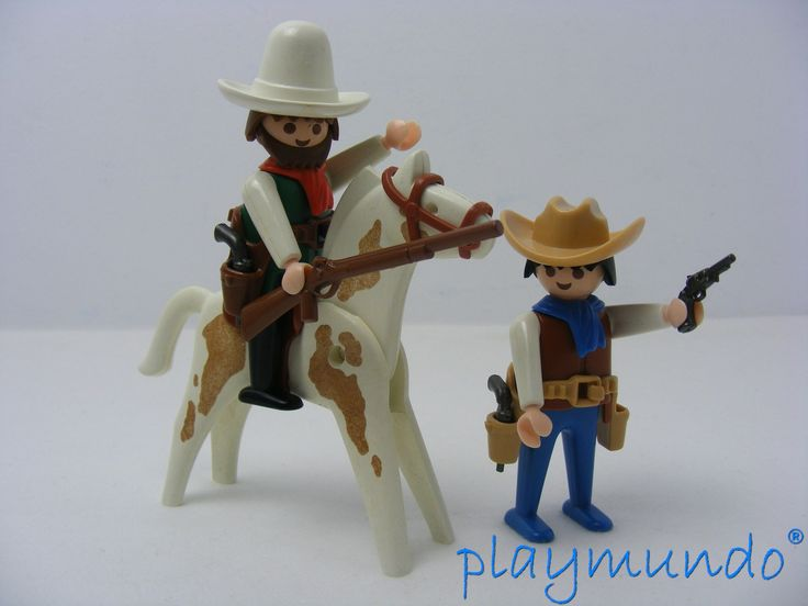 PLAYMOBIL 3304 VAQUEROS OESTE WESTERN (año 1986 - 1995) http://www.playmundo.es/playmobil-3304-vaqueros-oeste-western-5253-p.asp