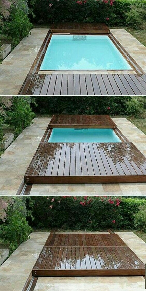 25 best ideas about plastic swimming pool on pinterest - Covering a swimming pool with decking ...