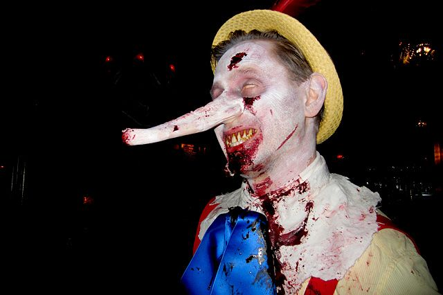 sick zombified Pinocchio, a perfect Scary Tales #halloween #costume!