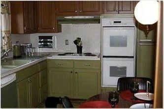 1970s kitchen rustoleum cabinet transformations
