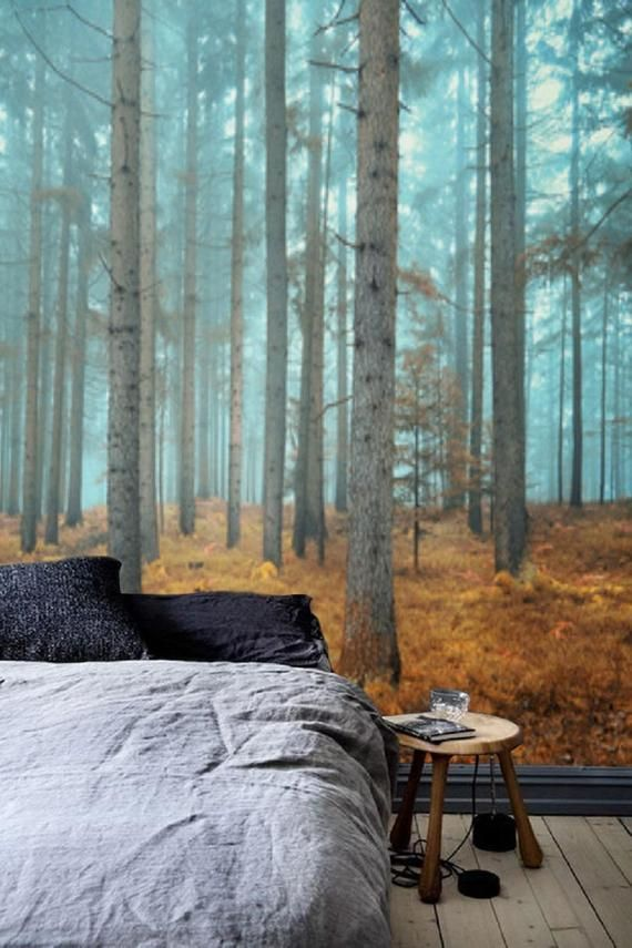 Removable Wallpaper Forest Wall Mural Peel And Stick Etsy In 2021 Forest Wall Mural Removable Wallpaper Wall Murals