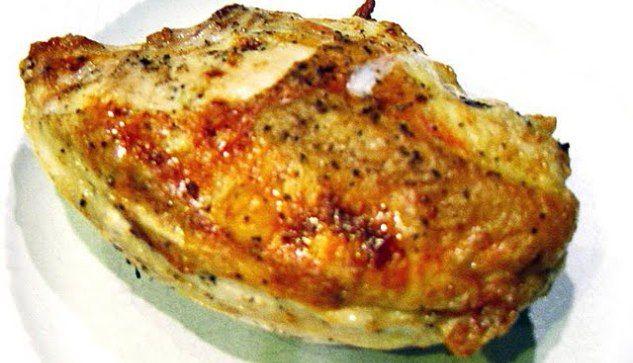 Butter and Garlic Stuffed Bone-in Skin-on (Split) Chicken Breast