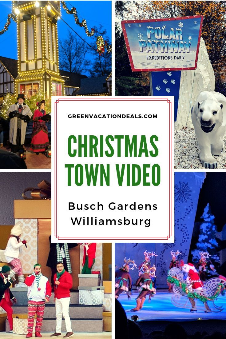 Busch Gardens Christmas Town Map 2018