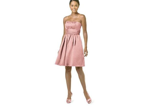 Vestido dama corto rosa claro
