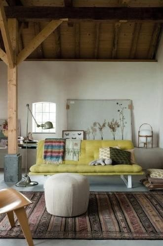 #yellowsofa #wood #livingroom #interior