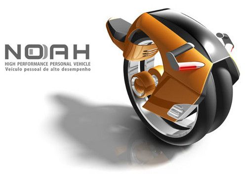 Futuristic Vehicle by Andrei França. The Noah personal riding wheel is bringing the unicycle back in style.