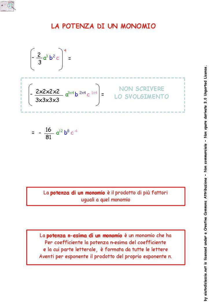 Algebra (espressioni letterali) 3ª Media | AiutoDislessia.net