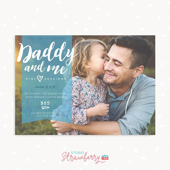Daddy and Me Mini Session Template Fathers Day Mini Sessions
