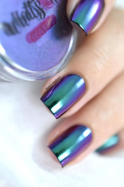 Marine Loves Polish: Multichrome Mirror Nails ft. What's Up Nails Alchemy Powder [VIDEO TUTORIAL] - multichrome nail art - pigments multichrome
