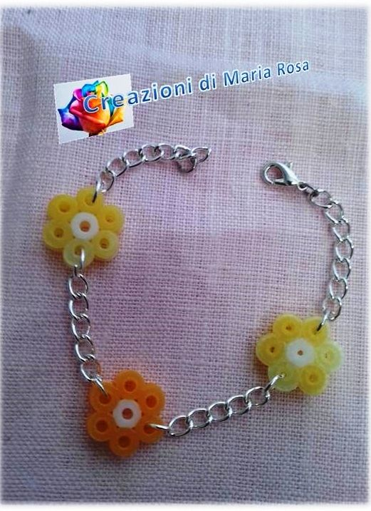 Realizzato con perline hama beads perlate