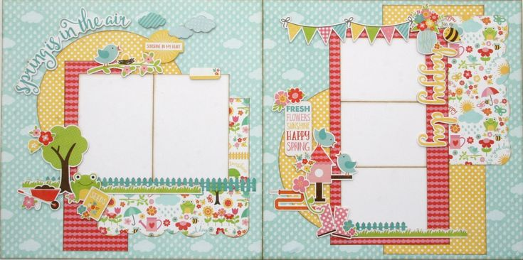 Spring is in the Air Two Page Layout Kit
