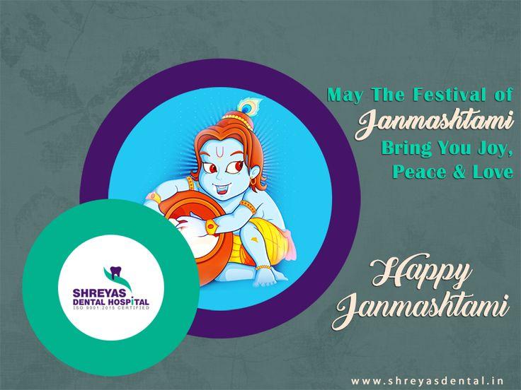 On the very special occasion of #KrishnaJanmashtami, #ShreyasDentalHospital wishing you a very happy Janmashtami.