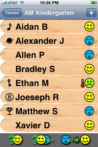 Teacher's Pick gives you the ability to randomly and uniquely choose students without having to rely on memory, cups of craft sticks or flash cards. Just add your class names and the students in each class. Teacher's Pick keeps track of which students are active, inactive (already chosen) or absent and gives you options to pick a student from the active group or pick from the full group...