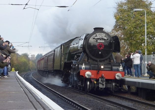 Flying Scotsman at Needham Market Station. Picture: BOB REASON