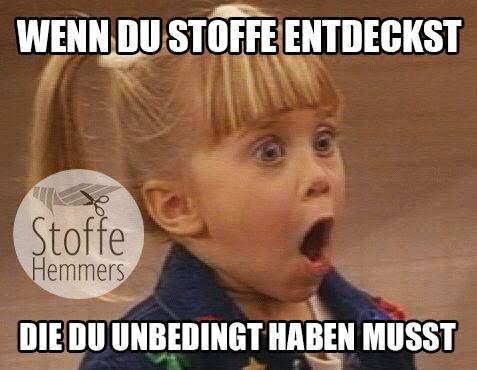 Kennt ihr das? Oder kennst du jemanden, der so reagiert?  www.stoffe-hemmers.de