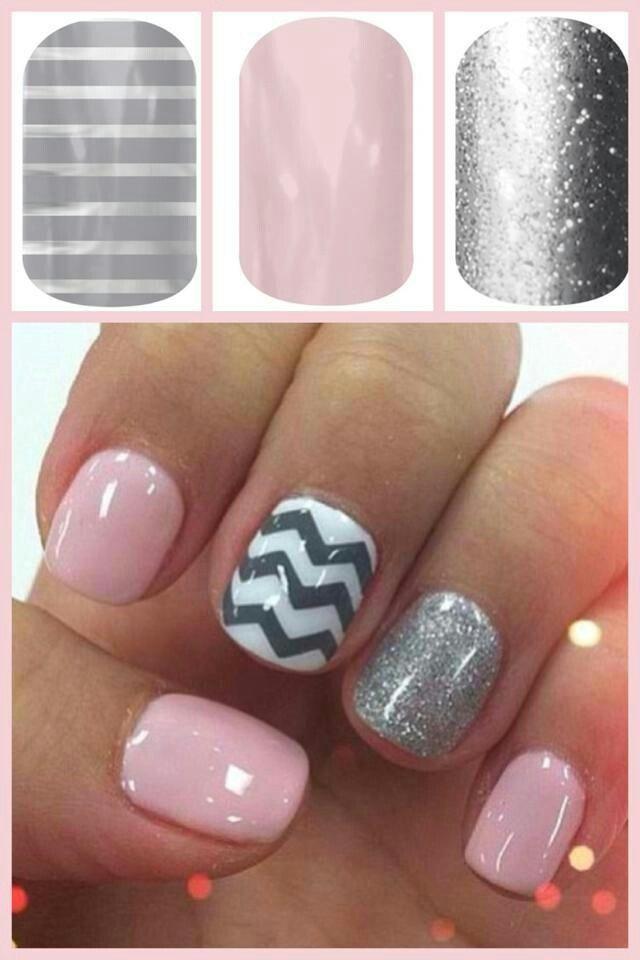 Pink/grey/zigzag