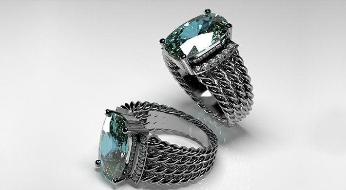 Projektowanie biżuterii pierścionek