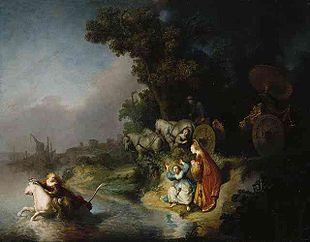 Rembrandt - Il rapimento di Europa, 1632. Olio su tavola. L'opera è considerata «...un fulgido esempio dell'età dell'oro della pittura barocca»