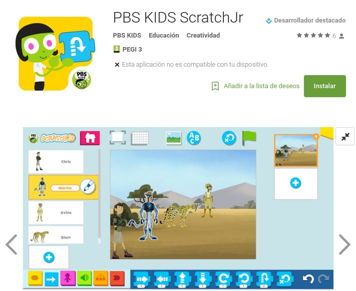 Fruto de la colaboración del equipo del MIT, de la Tufts University, de la Playful Invention Company, y de la sección infantil de la corporación PBS ha surgido PBS KIDS Scratch Jr, una app con una …