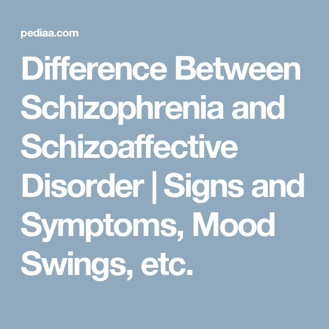 Difference Between Schizophrenia and Schizoaffective Disorder | Signs and Symptoms, Mood Swings, etc.