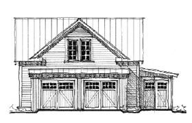 Elevation of historic garage plan 73758 garage plans for Historic carriage house plans
