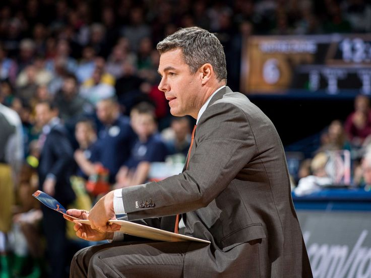 Virginia Cavaliers head coach Tony Bennett pauses during