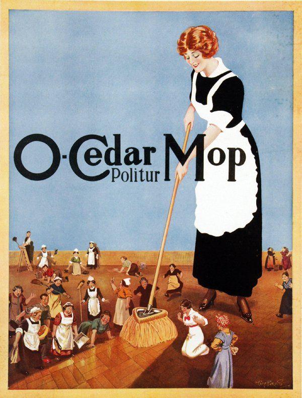 Poster by Tom Purvis - O-Cedar Mop