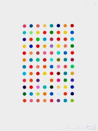 Damian Hirst dot painting!